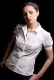 Het jonge mooie meisje Stock Foto's