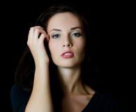 Het jonge mooie meisje met een samenstelling van de Avond Royalty-vrije Stock Afbeeldingen
