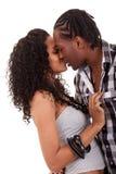 Het jonge mooie paar kussen Stock Afbeelding
