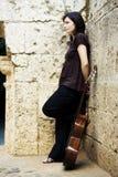 Het jonge musicus stellen Stock Foto's