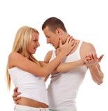 Het jonge paar dansen Royalty-vrije Stock Foto's