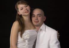 Het jonge paar van de schoonheid. stock foto