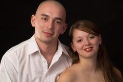 Het jonge paar van de schoonheid. royalty-vrije stock afbeeldingen