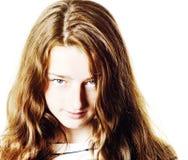 Het jonge portret van de tienerclose-up met verschillende emoties royalty-vrije stock afbeelding