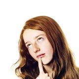 Het jonge portret van de tienerclose-up met verschillende emoties royalty-vrije stock fotografie