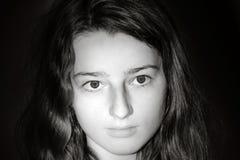 Het jonge portret van de tienerclose-up met verschillende emoties royalty-vrije stock foto