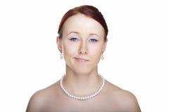 Het jonge portret van de vrouwenaantrekkingskracht Royalty-vrije Stock Afbeeldingen