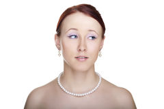 Het jonge portret van de vrouwenaantrekkingskracht Stock Foto