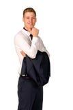 Het jonge portret van de zakenman volledige lengte Stock Fotografie