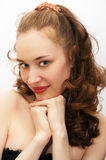 Het jonge portret van het schoonheidsmeisje Stock Fotografie