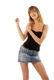 Het jonge schoonheid dansen Stock Foto