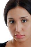 Het jonge Spaanse vrouw schreeuwen Stock Fotografie