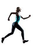 Het jonge sportieve vrouw aanstoten Stock Foto