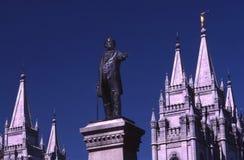 Het jonge standbeeld van Brigham Stock Foto's