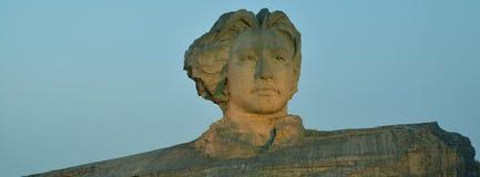 Het jonge Standbeeld van Mao zedong Royalty-vrije Stock Foto's