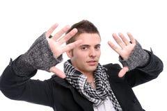 Het jonge toevallige mens stellen Royalty-vrije Stock Foto's