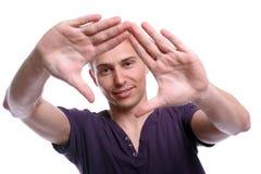 Het jonge toevallige mens stellen Stock Foto