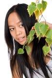 Het jonge Vietnamese meisje Stock Foto