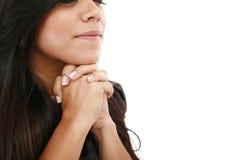 Het jonge vrouw bidden Stock Fotografie