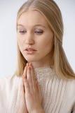 Het jonge vrouw bidden royalty-vrije stock fotografie
