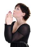 Het jonge vrouw bidden Stock Afbeelding