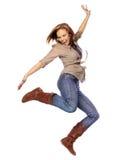 Het jonge vrouw dansen royalty-vrije stock afbeeldingen