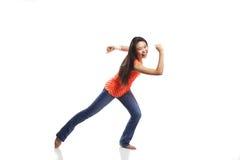 Het jonge Vrouw Dansen Stock Fotografie