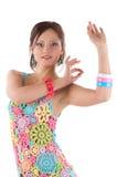 Het jonge vrouw dansen Stock Afbeelding