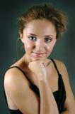 Het jonge vrouw denken royalty-vrije stock afbeeldingen