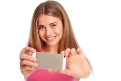 Het jonge vrouw fotograferen Stock Foto