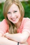 Het jonge vrouw glimlachen Royalty-vrije Stock Afbeelding