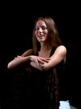 Het jonge vrouw lachen Royalty-vrije Stock Foto's