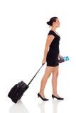 Het jonge vrouw reizen Stock Afbeelding