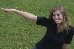 Het jonge vrouw richten Stock Foto's