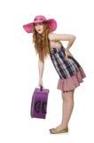 Het jonge vrouw voorbereidingen treffen Stock Foto's