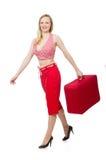Het jonge vrouw voorbereidingen treffen Stock Fotografie