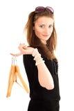 Het jonge vrouw winkelen Stock Foto