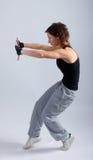 Het jonge vrouwelijke dansen Royalty-vrije Stock Foto's
