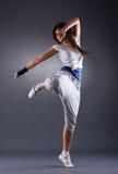 Het jonge vrouwelijke dansen Royalty-vrije Stock Afbeelding