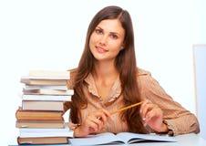 Het jonge vrouwelijke student glimlachen Royalty-vrije Stock Afbeelding