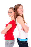 Het jonge vrouwen glimlachen stock foto
