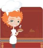Het jonge vrouwen koken Royalty-vrije Stock Foto's