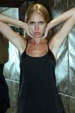 Het jonge vrouwenmannequin stellen Royalty-vrije Stock Foto's