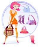 Het jonge Winkelen van het Meisje stock illustratie