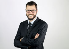 Het jonge zakenman glimlachen Royalty-vrije Stock Afbeeldingen