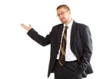 Het jonge zakenman tonen Royalty-vrije Stock Foto