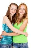 Het jonge zusters koesteren Stock Afbeelding