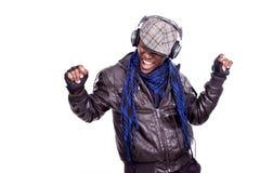 Het jonge Zwarte mensen dansen stock foto's