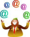 Het jongleren met e-mail vector illustratie