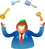 Het jongleren met sleutels stock illustratie